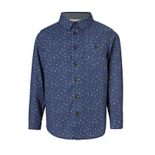 Buy John Lewis Boys' Spot Print Shirt, Blue/Multi Online at johnlewis.com