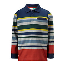 Buy John Lewis Boys' Stripe Long Sleeve Polo Top, Multi Online at johnlewis.com