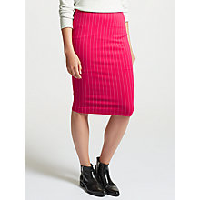 Buy Marc Cain Pin Stripe Stretch Pencil Skirt, Pink Online at johnlewis.com