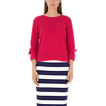 Buy Marc Cain Bow Sleeve Jumper, Fuschia Online at johnlewis.com