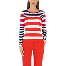 Buy Marc Cain Slim Fit Stripe Jumper, Multi Online at johnlewis.com