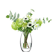 Buy LSA International Verona Vase, Clear Online at johnlewis.com