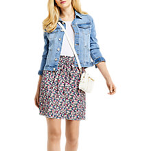 Buy Oasis Ditsy Ruched Floral Skirt, Multi Online at johnlewis.com
