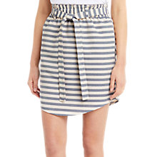 Buy Oasis Stripe Paperbag Skirt, Blue/Cream Online at johnlewis.com