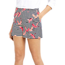 Buy Oasis Flamingo Stripe Shorts, Multi Online at johnlewis.com
