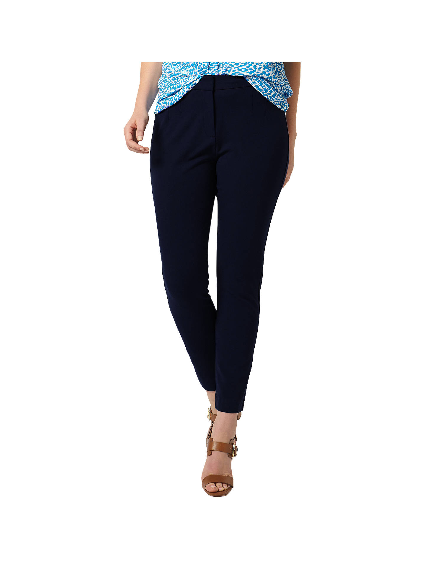 BuyStudio 8 Cressida Trousers, Navy, 14 Online at johnlewis.com