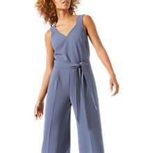Buy Jigsaw Belted Jumpsuit, Aqua Grey Online at johnlewis.com