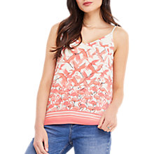 Buy Oasis Flamingo Tie-Shoulder Cami, Off White/Pink Online at johnlewis.com