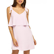 Buy Miss Selfridge Tie Shoulder Dress, Lilac Online at johnlewis.com