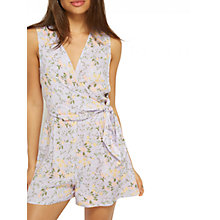 Buy Miss Selfridge Floral Playsuit, Lilac Online at johnlewis.com