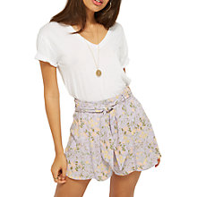 Buy Miss Selfridge Floral Flippy Shorts, Lilac Online at johnlewis.com