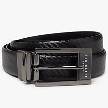 Buy Ted Baker Hibisis Reversible Leather Belt, Black Online at johnlewis.com