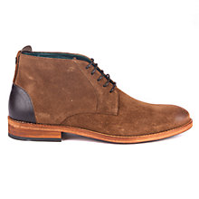 Buy Barbour Benwell Leather Chukka Boots, Tobacco Online at johnlewis.com