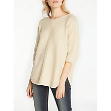 Buy AND/OR Cocoon Rib Jumper, Cream Online at johnlewis.com