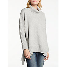Buy AND/OR Side Tie Knit Jumper, Light Grey Online at johnlewis.com