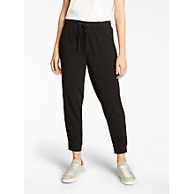 Buy AND/OR Joelle Crepe Joggers, Black Online at johnlewis.com