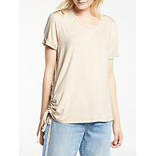 Buy AND/OR Uma Short Sleeve Gathered Side Top Online at johnlewis.com