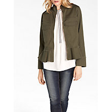 Buy AND/OR Harper Twill Jacket, Khaki Online at johnlewis.com