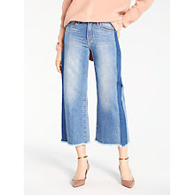 Buy AND/OR Westlake Dark Side Seam Jeans, Blue Online at johnlewis.com