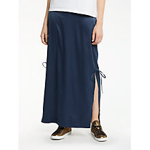 Buy AND/OR Satin Maxi Tube Skirt, Navy Online at johnlewis.com