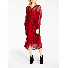Buy AND/OR Megan Dandelion Print Dress, Red Online at johnlewis.com