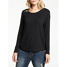 Buy AND/OR Uma Long Sleeve Gathered Side Top Online at johnlewis.com