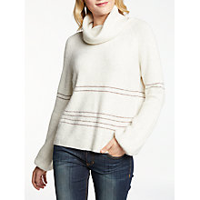 Buy AND/OR Bell Sleeve Roll Neck Jumper, Cream Online at johnlewis.com