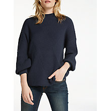 Buy AND/OR Kate Cutabout Rib Jumper, Deep Blue Online at johnlewis.com