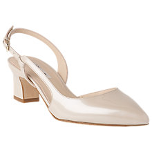Buy L.K. Bennett Aurora Asymmetric Block Heeled Court Shoes, Cream Online at johnlewis.com