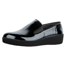 Buy FitFlop Superskate Wedge Heeled Loafers, Navy Online at johnlewis.com