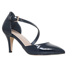Buy Carvela Kite Mid Heel Court Shoes, Navy Patent Online at johnlewis.com