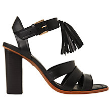 Buy Whistles Maida Block Heeled Tassel Sandals, Black Online at johnlewis.com