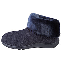 Buy totes Pillowstep Fine Knit Boot Slippers, Navy Online at johnlewis.com