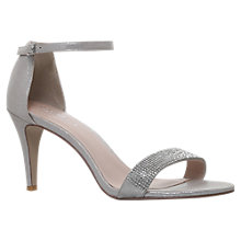 Buy Carvela Kiwi 2 Two Part High Heel Sandals, Silver Online at johnlewis.com