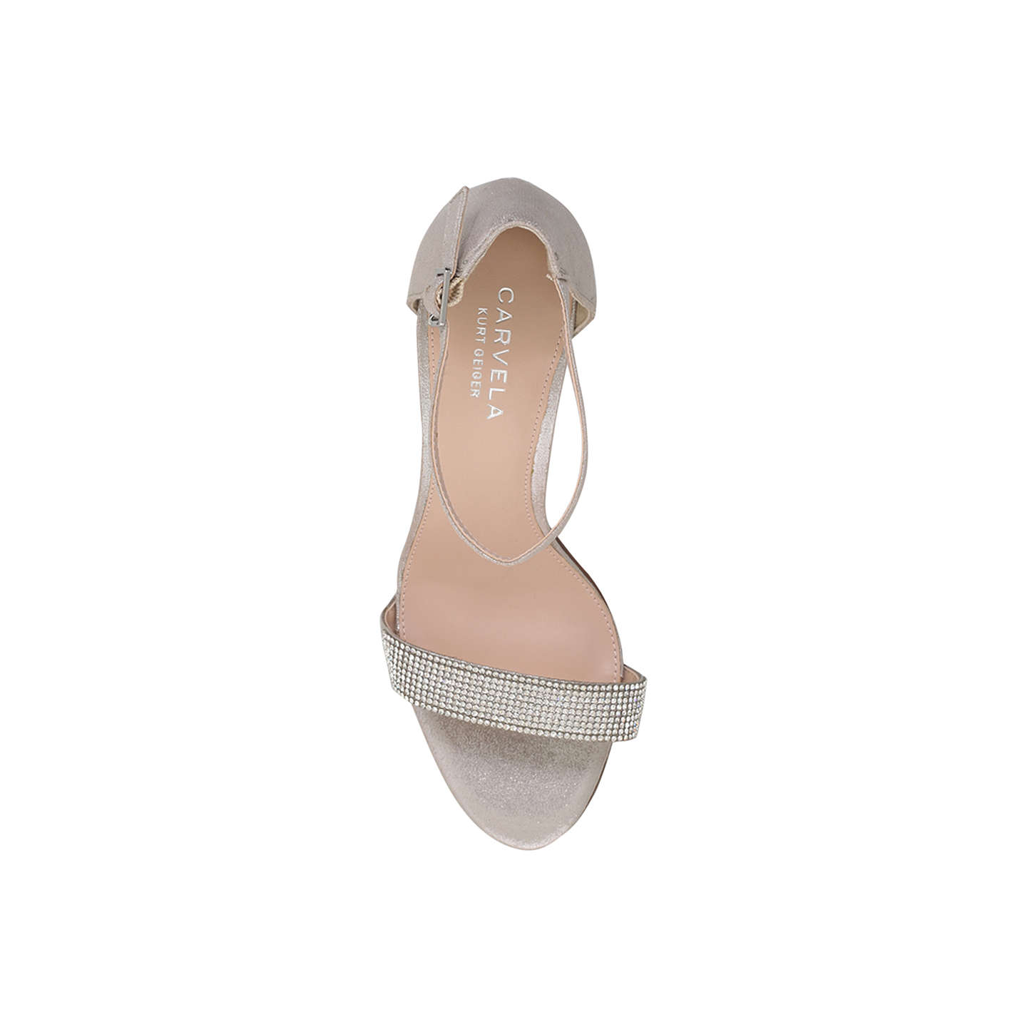 BuyCarvela Kiwi 2 Two Part High Heel Sandals, Silver, 3 Online at johnlewis.com