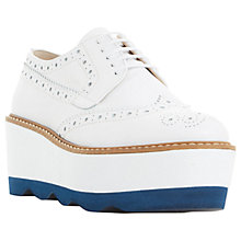 Buy Dune Black Fairfield Flatform Brogues, White Online at johnlewis.com
