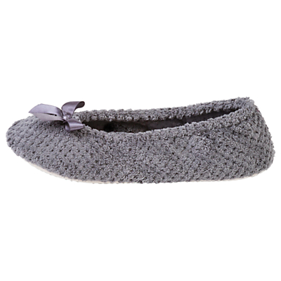 totes Popcorn Ballet Slippers, Dark Grey