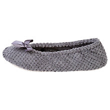 Buy Totes Popcorn Ballet Slippers, Dark Grey Online at johnlewis.com