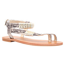 Buy Carvela Klipper Flat Sandals, Beige Snake Online at johnlewis.com