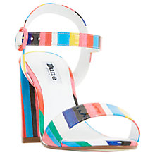 Buy Dune Marraca Rio Stripe Block Heeled Sandals, Multi Online at johnlewis.com