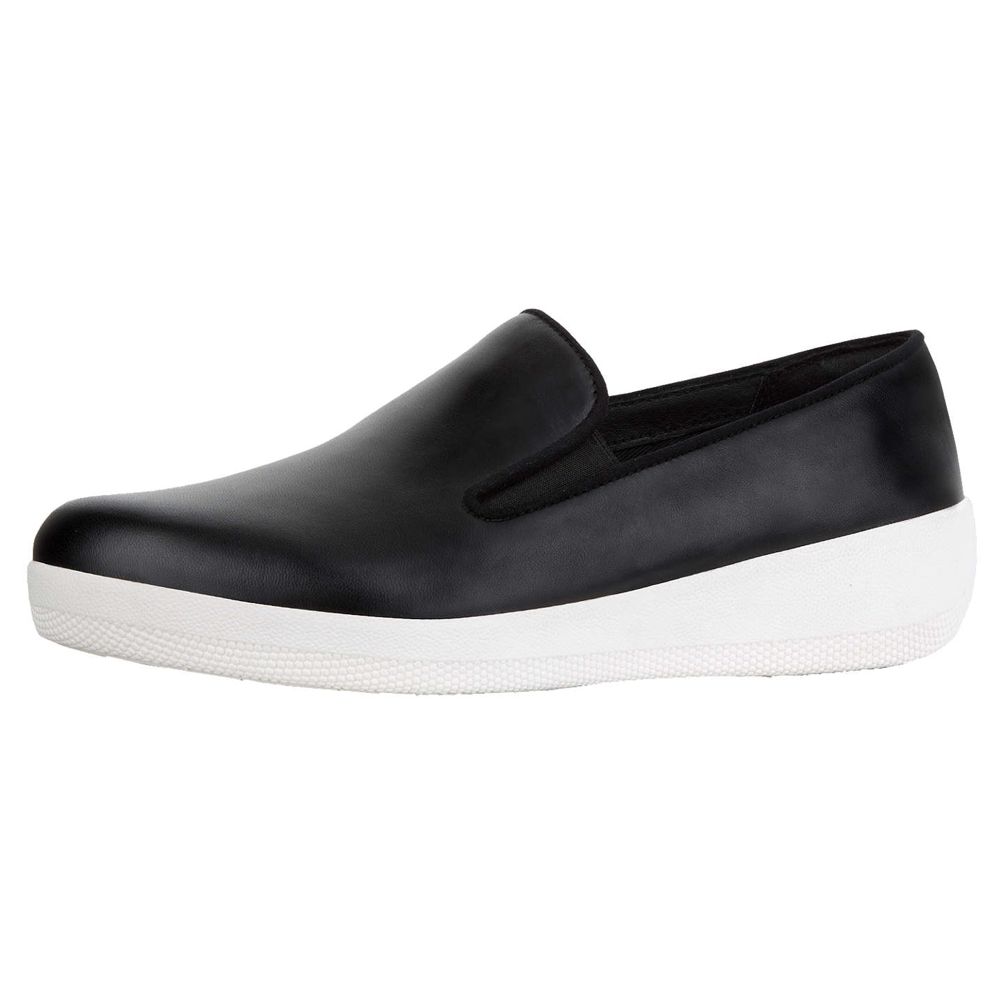 BuyFitFlop Superskate Wedge Heel Loafers, Black, 4 Online at johnlewis.com