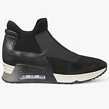 Buy Ash Lazer Slip On Trainers, Black Online at johnlewis.com