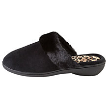 Buy Totes Heeled Pillowstep Mule Slippers, Black Online at johnlewis.com