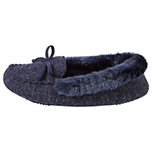 Buy Totes Pillowstep Fine Knit Moccasin Slippers, Navy Online at johnlewis.com