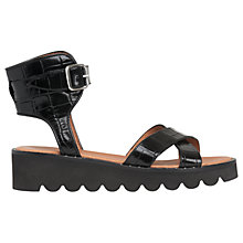 Buy Whistles Kingly Cross Strap Sandals, Black Online at johnlewis.com