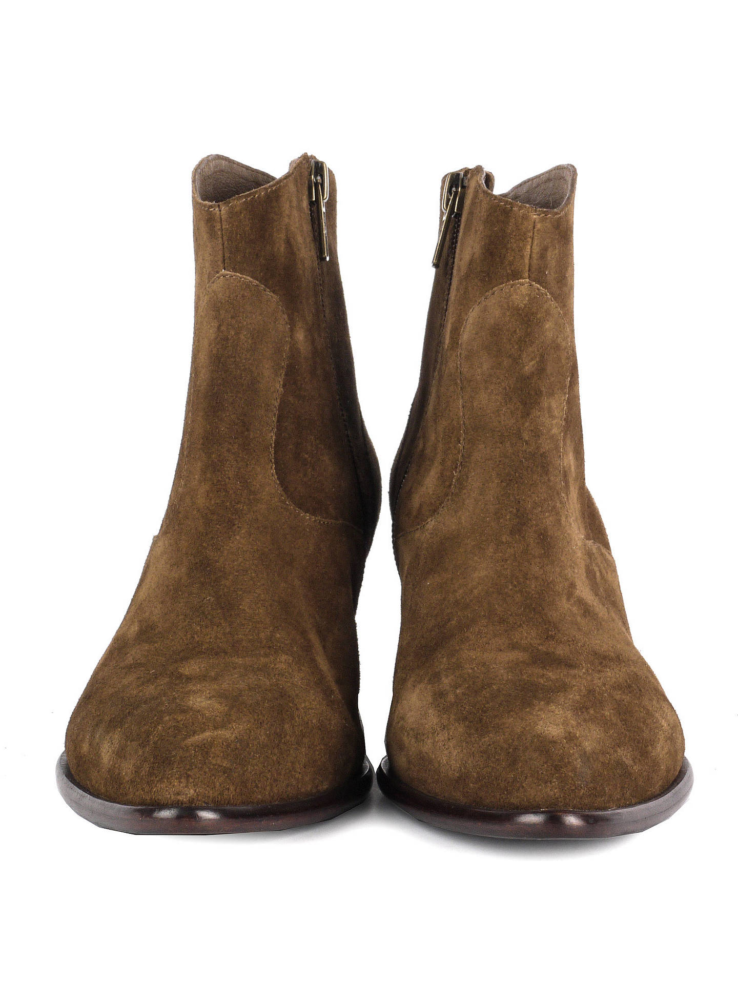 5eb6b4277eb Ash Heidi Western Block Heeled Ankle Boots, Brown at John Lewis ...