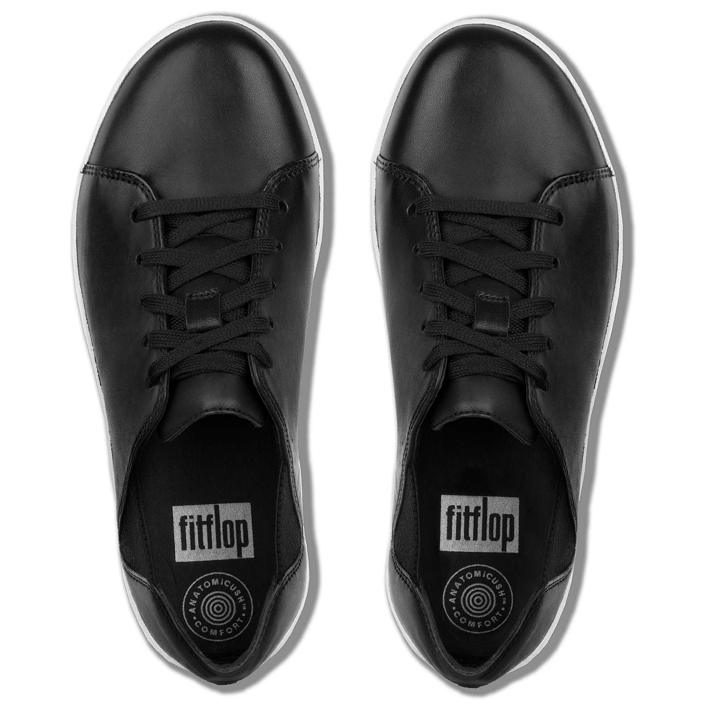 BuyFitFlop Fsporty Lace Up Trainers, Black, 4 Online at johnlewis.com