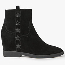 Buy Ash Goldie Concealed Wedge Heeled Ankle Boots, Black Online at johnlewis.com