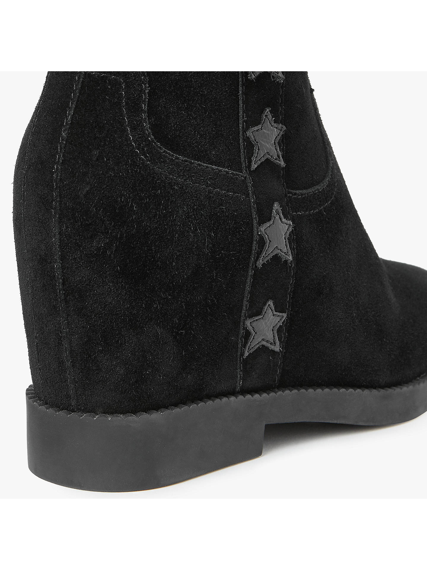 Buy Ash Goldie Concealed Wedge Heeled Ankle Boots, Black, 4 Online at johnlewis.com