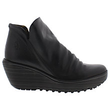 Buy Fly London Yip Ruched Wedge Heeled Ankle Boots Online at johnlewis.com